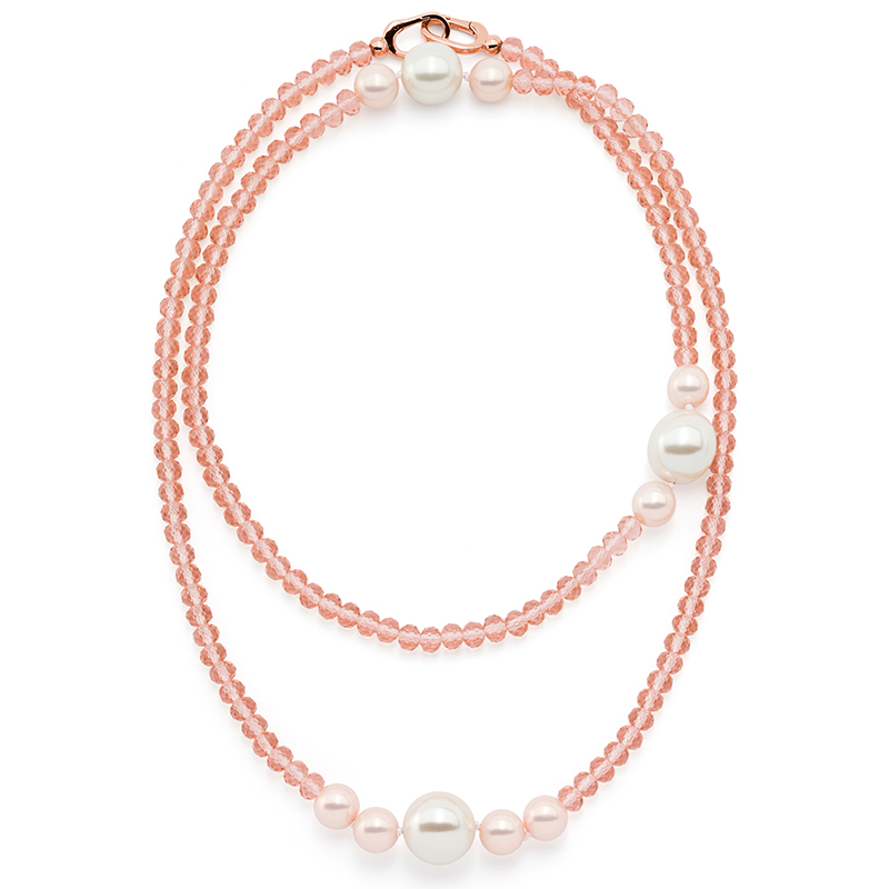 MAGIC ORCHIDEA PEARL Collier, oro rosé, nude, multicolor