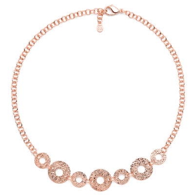 THE KISS Collier, oro rosé